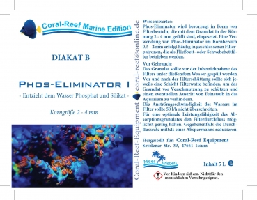 Coral Reef DIAKAT B Phosphat Eliminator I 2,0-4,0 mm 5000 ml/Eimer