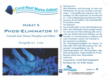 Coral Reef DIAKAT B Phosphat Eliminator II 0,5,-2,0 mm 5000 ml/Eimer